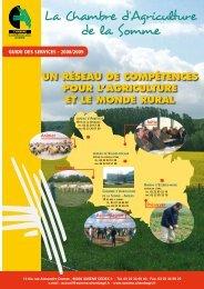 UN RéSEAU DE COMPéTENCES POUR L'AGRICULTURE ET LE ...
