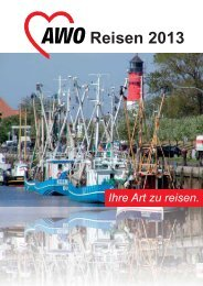 Das sollten Sie über unsere Reisen wissen - AWO Paderborn