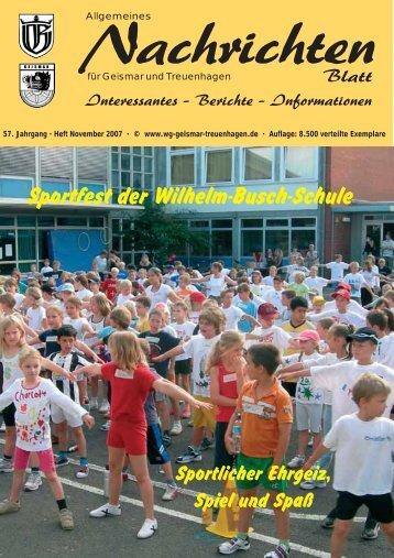 Nachrichtenblatt Nov. 2007 - Werbegemeinschaft Geismar ...