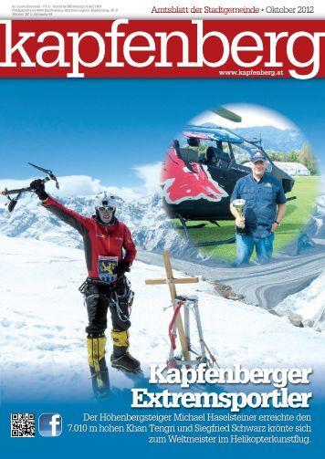 Amtsblatt Oktober 2012 - Stadtgemeinde Kapfenberg