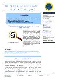 Newsletter January/February 2012 - European Skin Cancer ...