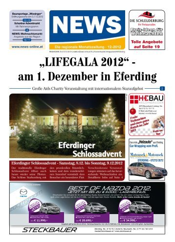 """LIFEGALA 2012"" - am 1. Dezember in Eferding - NEWS-ONLINE.at"