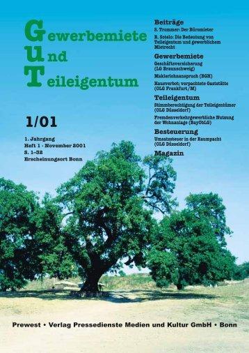 """Fachzeitschrift """"Gewerbemiete und Teileigentum"""" (GuT)"""