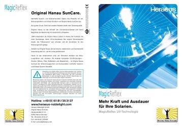 MagicReflex Reflektoren. Mit Hilfe spe - Original Hanau