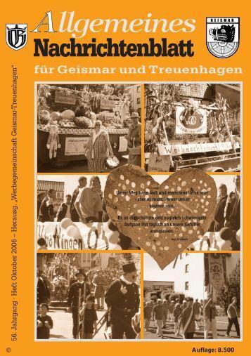 Nachrichtenblatt Oktober 2006 - Werbegemeinschaft Geismar ...