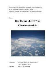 """Das Thema """"LUFT"""" im Chemieunterricht - ChidS"""