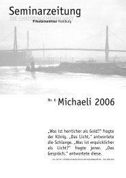 Seminarzeitung - Priesterseminar Hamburg