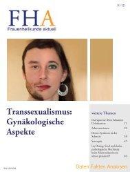Transsexualismus: Gynäkologische Aspekte - Frauenheilkunde aktuell