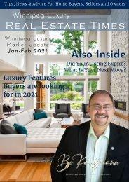 Winnipeg Luxury Market Report January 2021 - Luxury Real Estate Report