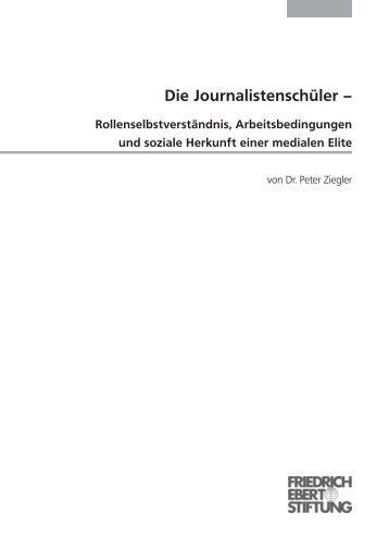 Die Journalistenschüler - Bibliothek der Friedrich-Ebert-Stiftung