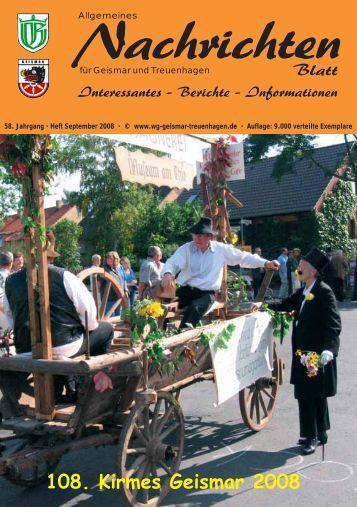 Nachrichtenblatt September 2008 - Werbegemeinschaft Geismar ...