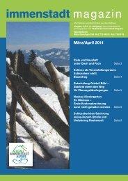 Ausgabe März / Apr. - Rathaus: Stadtverwaltung Immenstadt