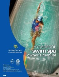 2012 swim spa owners manual (english) 010312 - Hydropool