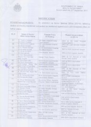 Transfer / Postings of Promoted Sr. Medical Officers BS