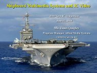 Shipboard Multimedia Systems and IC Video - (IC) Symposium
