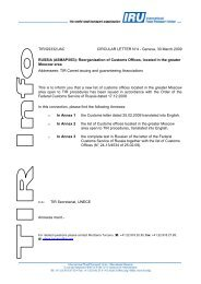 TIR/G9332/JAC CIRCULAR LETTER N°4 - Geneva ... - Transporteure