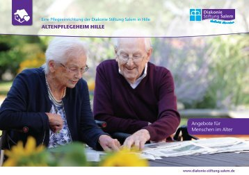 Folder Altenpflegeheim Hille