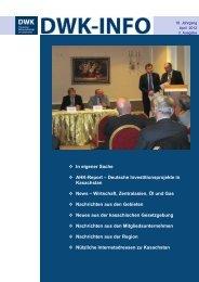 DWK-Info Kasachstan 2012-04 - AHK Zentralasien - AHKs