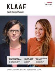 KLAAF Das kölsche Magazin Feb - Juli 2021