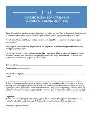 NORDISK SKJEMA FOR UTREDNING AV BARNS ... - 5-15.org
