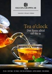 Tea o´clock - Det finns alltid tid för te