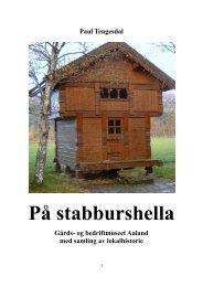 Paul Tengesdal På stabburshella - Bjerkreim.info