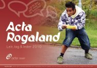 Leir, lag & leder 2010 - Acta - barn og unge i Normisjon