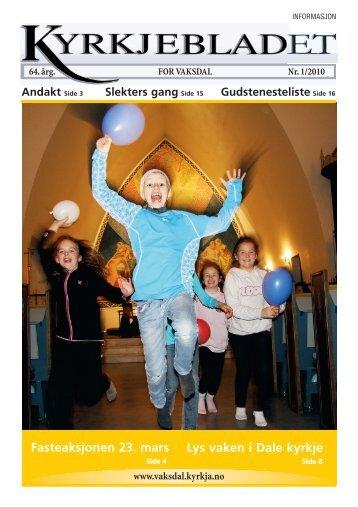 Nr. 1 - Vaksdal kyrkjelege fellesråd - Den norske kyrkja