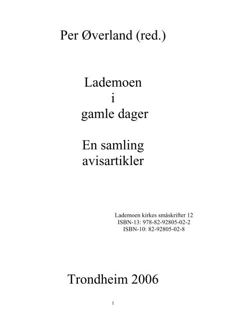 10d032c0 Gamle dagers Lademoen - Lade historielag