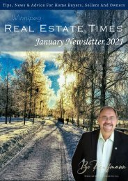 Winnipeg Real Estate News Letter - January