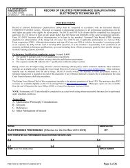 ET Enlisted Performance Qualifications 03-2009 - U.S. Coast Guard