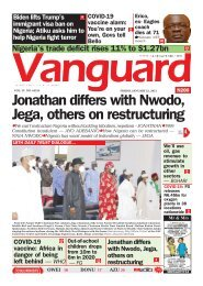 22012021 - Jonathan differs with Nwodo, Jega, others on restructuring