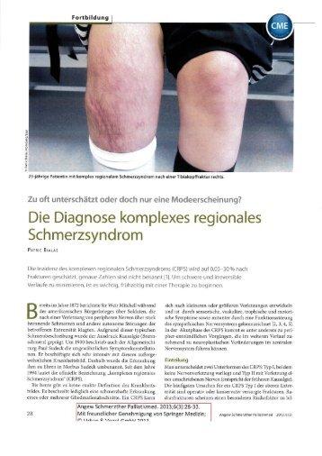 Die Diagnose komplexes regionales Schmerzsyndrom
