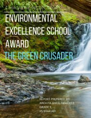 Report on research topic of Environmental Excellence - for Bee'ah's e-magazine project THE GREEN CRUSADER