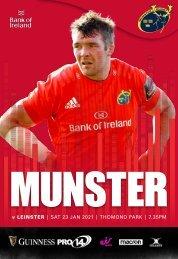 Munster Rugby v Leinster Rugby Match Programme
