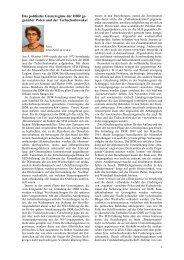 Das politische Grenzregime der DDR ge- genüber Polen und der ...
