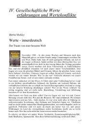 IV. Gesellschaftliche Werte erfahrungen und Wertekonflikte Bärbel ...