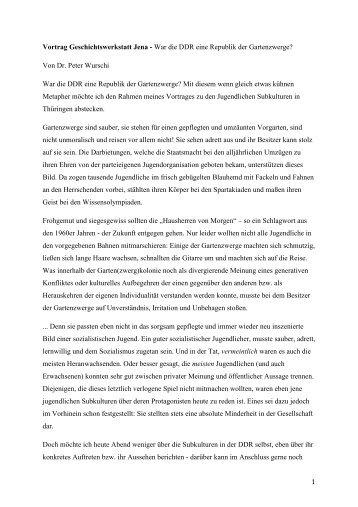 War die DDR eine Republik - Geschichtswerkstatt Jena eV