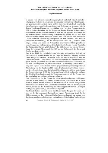 30 Die Verbreitung und Kontrolle illegaler Literatur in der DDR ...
