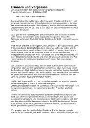 Erinnern und Vergessen - Friedrich Schorlemmer