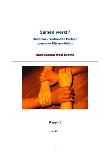 Rapport Verbonden Partijen - Gemeente Rijssen-Holten