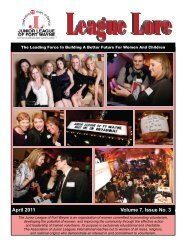 April 2011 Volume 7, Issue No. 3 - Junior League of Fort Wayne