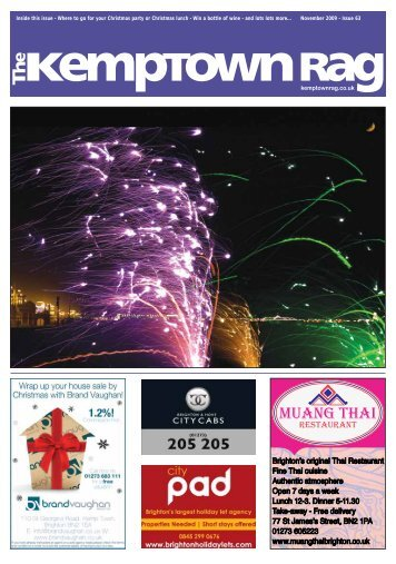 Issue 63 Inside this issue - The Kemptown Rag