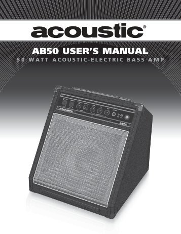 AB50 USER'S MANUAL - Acoustic