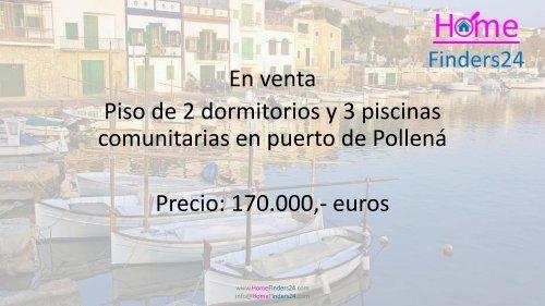 A la venta este piso de 2 dormitorios en un parque con 3 piscinas en Puerto de Pollença. (AP0038)