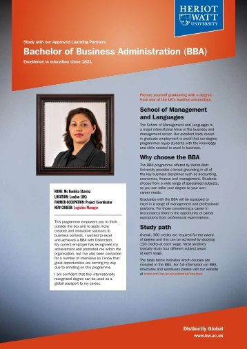 BBA - School of Management & Languages - Heriot-Watt University