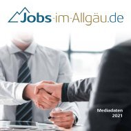 Mediadaten Jobs-im-Allgäu.de 2021