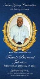 Travais Bernard  Johnson Memorial Program