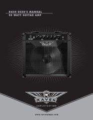 RG20 USER'S MANUAL 20 WATT GUITAR AMP - Raven Amps