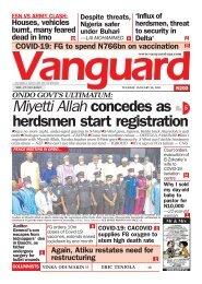 26012021 - ONDO GOVT'S ULTIMATUM: Miyetti Allah concedes as herdsmen start registration
